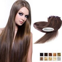 Chocolate Brown Micro Loop Human Hair Extensions