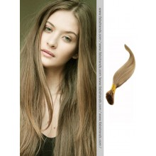 Ash Brown I Tip Pre Bonded Hair Extensions