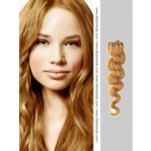 Beige Brown Wavy Micro Loop Hair Extensions