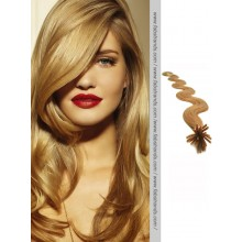 Beige Brown Wavy Stick Tip Hair Extensions