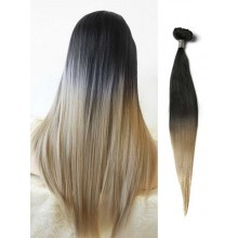 Black to Blonde Straight Ombre Hair Extensions