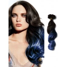 Black to Blue Ombre Human Hair Extensions