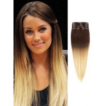 Brown to Blonde Silky Ombre Hair Extensions