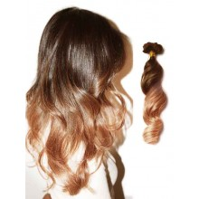 Chocolate Brown Wavy Ombre Human Hair Extension
