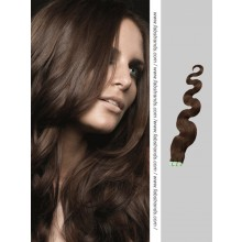 Dark Brown Wavy Tape in Hair Extensions