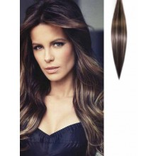 Light Brown Highlighted Clip on Hair Extensions