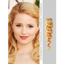 Strawberry Blonde Wavy Micro Loop Hair Extensions