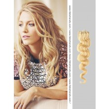 Wheat Blonde Wavy Micro Loop Hair Extensions