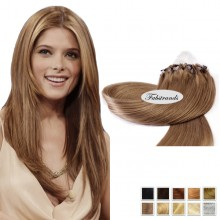 Ash Blonde Micro Loop Human Hair Extensions
