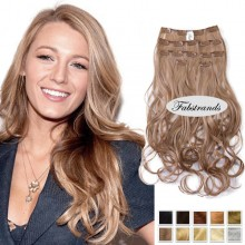 Ash Blonde Wavy Clip In Hair Extensions