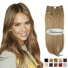 Beige Brown Clip In Hair Extensions