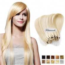 Bleach Blonde Micro Loop Human Hair Extensions