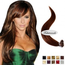 Medium Brown I Tip Pre Bonded Hair Extensions