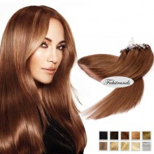 Medium Brown Micro Loop Human Hair Extensions