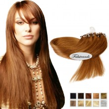 Golden Blonde Micro Loop Human Hair Extensions