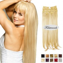 Pale Blonde Clip In Hair Extensions