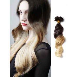 Black and Blonde Wavy Remy Ombre Hair Extensions