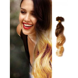 Brown to Blonde Ombre Loose Wave Hair Extensions