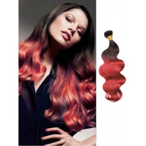Burgundy Wavy Cheap Ombre Hair Extensions