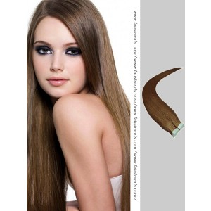 Medium Brown Tape in Hair Extensions