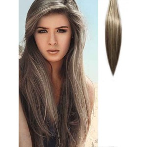 Natural Straight Blonde Highlighted Hair Extensions