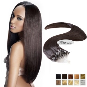 Dark Brown Micro Loop Human Hair Extensions