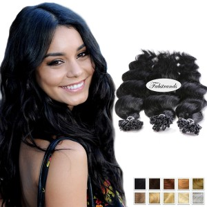Fusion Hair Extensions Body Wave Natural Black