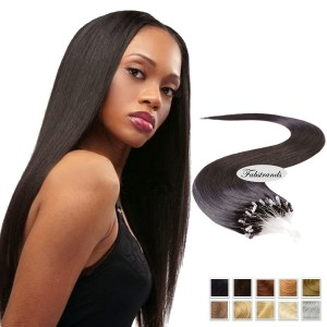 Natural Black Micro Loop Human Hair Extensions