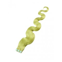 18 inch Green Seamless Wavy Tape Hair Extensions
