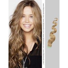 Ash Brown Wavy Tape in Hair Extensions