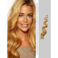 Beige Brown Wavy Tape in Hair Extensions