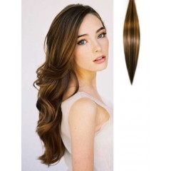 Chestnut Brown Highlighted Hair Extensions
