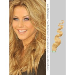 Golden Blonde Wavy Tape in Hair Extensions
