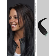 Jet Black Tape in Hair Extensions