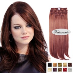 Auburn Clip In Hair Extensions