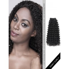 Black Kinky Curly Remy Hair Weaves