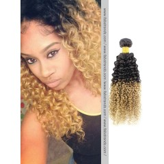 Black to Blonde Ombre Kinky Curly Weave