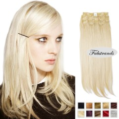 Bleach Blonde Clip In Hair Extensions