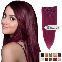 Burgundy clipin hairextensions
