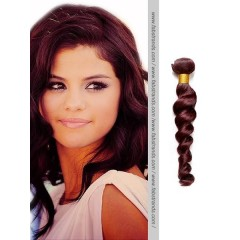 Burgundy Loose Wave Remy Hair Weaves