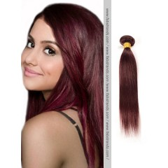 Burgundy Silky Straight Remy Hair Weaves
