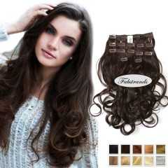 Dark Brown Wavy Clip Hair Extensions