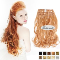 Light Brown Wavy Clip In Hair Extensions