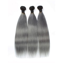 Silver Silky Straight Remy Hair Weaves