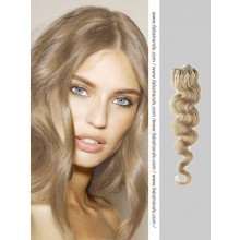 Ash Blonde Wavy Micro Loop Hair Extensions