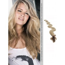 Ash Blonde Wavy Stick Tip Hair Extensions