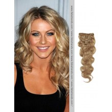 Ash Brown Wavy Clip In Hair Extensions