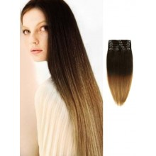Black Silky Remy Ombre Hair Extensions
