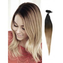 Black and Brown Ombre Human Hair Extensions