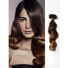 Black to Brown Loose Wave Remy Ombre Hair Extensions